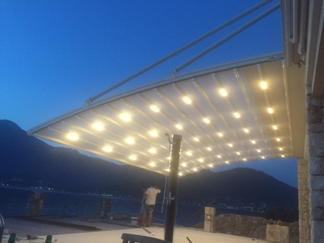 Crna Gora Suntech MN4 pergola, 900x400 cm.